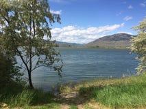 Belle vue de parc de ville de la rivière Images libres de droits