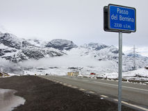 Passo del Bernina Photos libres de droits