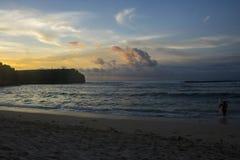 belle vue de plage d'été images libres de droits