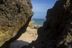 belle vue de plage d'été photo stock