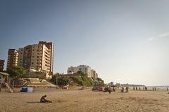 Belle vue de plage de Murcielago dans le Manta Photographie stock libre de droits