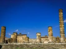 Belle vue de Pompeii Italie image libre de droits