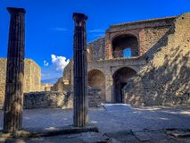 Belle vue de Pompeii Italie photographie stock libre de droits