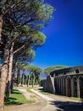 Belle vue de Pompeii Italie images libres de droits