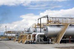 belle vue de raffinerie de centrale de panorama Images stock