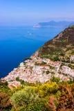 Belle vue de Riomaggiore, Italie Photos libres de droits