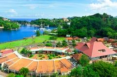 Belle vue de saint Lucia Photos libres de droits