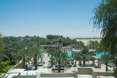Belle vue de station de vacances de luxe étonnante de prime de désert Photos libres de droits