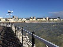 Belle vue de station de vacances de Brighton Pier image stock