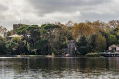 Belle vue de Torre del Lago de lac Massaciuccoli, Lucques, Toscane, Italie photos libres de droits