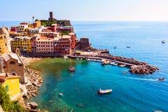 Belle vue de Vernazza Photos stock