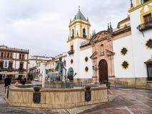 belle vue de ville en Espagne Photos libres de droits