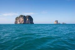 Belle vue des îles de granit en mer d'Andaman Images stock