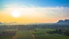 belle vue des champs verts Images stock