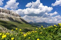 Belle vue des dolomites en juin Photos stock