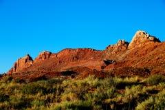 Belle vue des formations étonnantes de sable dans le coucher du soleil célèbre, Arizona, Etats-Unis image stock