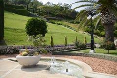 Belle vue des jardins de Bahai à Haïfa Images stock