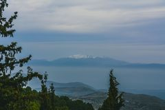 Belle vue des montagnes image stock