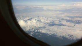 Belle vue des nuages banque de vidéos