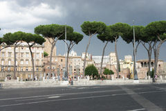 Belle vue des ruines de Roman Empire, Rome Photo stock