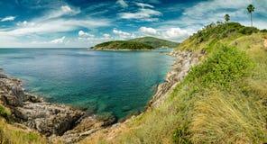Belle vue du cap avec l'océan Photographie stock