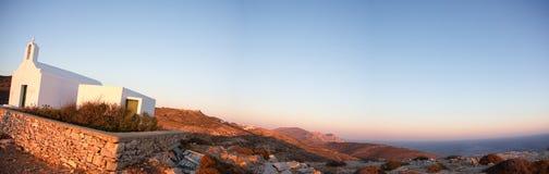 Belle vue du rivage de Folegandros Images stock
