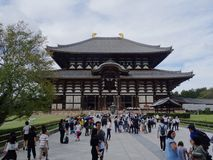 Belle vue du temple de Todai-JI ? Nara, grand Bouddha Hall photographie stock