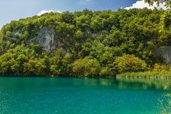 Belle vue en parc national de lacs Plitvice Croatie photos stock