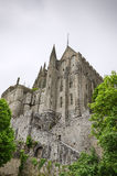 Belle vue médiévale d'abbaye Photographie stock libre de droits