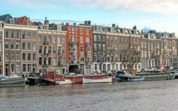 Belle vue panoramique d'Amsterdam, Hollande, Pays-Bas photo stock
