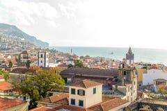 Belle vue panoramique de Funchal, Madère, Portugal Images stock