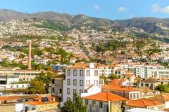 Belle vue panoramique de Funchal, Madère, Portugal Photo libre de droits