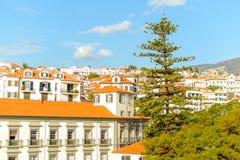 Belle vue panoramique de Funchal, Madère, Portugal Image libre de droits