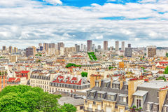 Belle vue panoramique de Paris du toit du Panthéon images stock