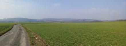 Belle vue panoramique en ` l'Oise, France de Val d Photographie stock