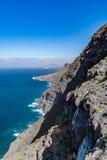 Belle vue panoramique (mamie Canaria) de paysage jaune canari grand de littoral Images libres de droits