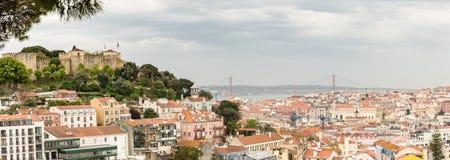 Belle vue panoramique sur la ville si Lisbonne photographie stock