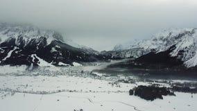 Belle vue près de Lermoos, Autriche banque de vidéos