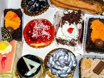 Belle vue savoureuse de gâteaux d'en haut Photographie stock libre de droits