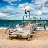 Belle vue scénique de plage de Nha Trang photographie stock