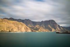 Belle vue sur la côte ouest de mamie Canaria Photos libres de droits