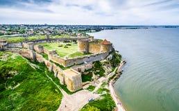 Belle vue sur la forteresse d'Akkerman dans le Belgorod-Dniestr, Ukraine Image stock
