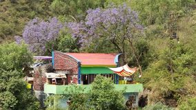 Belle vue sur le chemin de Manali Photographie stock libre de droits