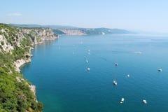 Belle vue sur le golfe de Trieste Image stock