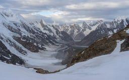 Belle vue sur le passage de La de Gondogoro, K2 voyage, Pakistan photo libre de droits