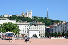 Bellecour sqaure, Lyon, France Royalty Free Stock Image