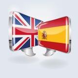 Bellen in het Spaans en het Engels stock illustratie