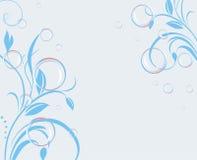 Bellen met decoratieve twijgen. Banner vector illustratie