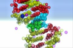 Bellen in vorm van DNA Royalty-vrije Stock Foto's