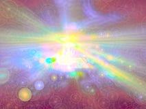 Bellenonduidelijk beeld - abstract digitaal geproduceerd beeld Stock Foto